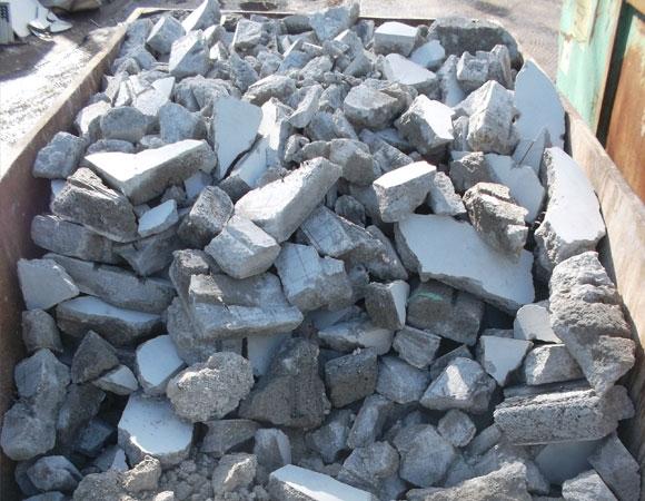 recyclingfähiger Bauschutt